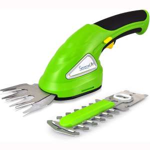 SereneLife Battery Grass Cutter, Grass Clippers Cordless, Trimmer Cutter, Handheld Trimmer, Grass Shear Electric, Perfect For Leaves & Debris