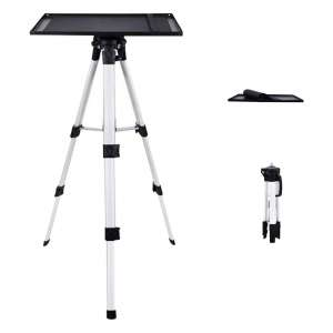 TOPVISION Aluminum Tripod Projector Stand with Plate and Carrying Bag