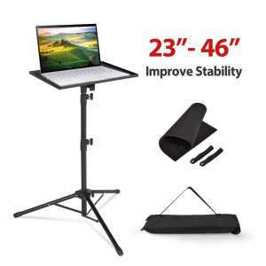 Klvied Projector Tripod Stand 23 to 46 Inches Height Adjustable