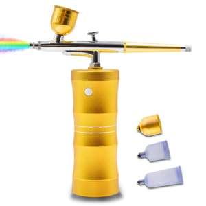 QUEVINA Airbrush Painting Kit Upgrade Spray Handheld Cordless Airbrush Gun With Compressor