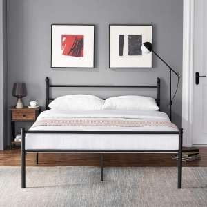 VECELO Metal Bed Frame Platform Queen Mattress Foundation with Footboard and Headboard