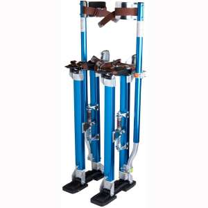 "Yescom Drywall Stilts 24""-40"" Aluminum Tool Stilt for Painting Painter Taping Blue"