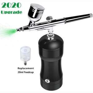 COSSCCI Upgraded Airbrush Kit, Portable Auto Mini Air Brush Gun with Compressor Kit Quiet Air Brush
