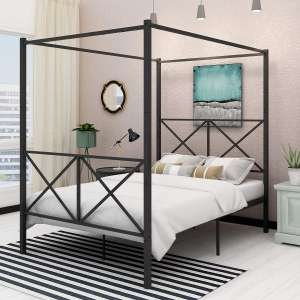 HOMERECOMMEND Canopy Bed Frame