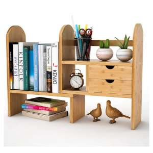 Wisuce Bookcase with Two Drawers