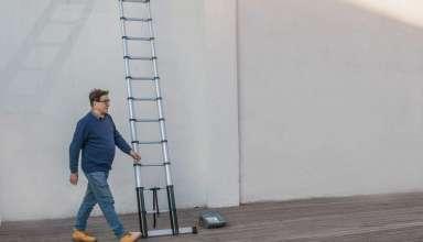 image feature Aluminum Telescoping Ladders