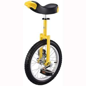 """Heroudsty 16"""" 18"""" 20"""" 24"""" Unicycle Cycling Scooter Circus Bike Youth Adult Balance Exercise Single Wheel Bicycle Aluminum Wheel"""