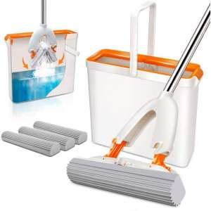 Masthome Superior Quality Sponge Mops and Bucket Sets