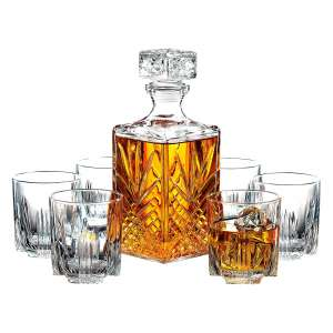 Paksh Novelty 7-Piece Italian Crafted Whisky Glass