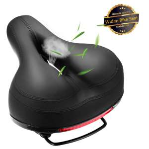 SZXSDY Leather Bike Saddles Comfortable Bike Seat for Women and Men