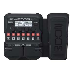 Zoom G1X FOUR Guitar Processor with an Expression Pedal