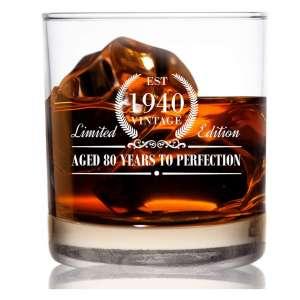 DU VINO 1940 Vintage 11 oz Elegant Whiskey Glasses