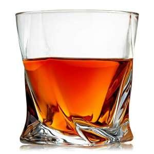Venero Lowball Bar Crystal Whiskey Glasses