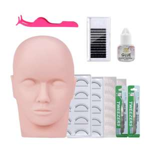 Missicee Eyelash Extension Kits with Mannequin Head