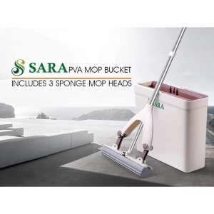 SARA Bucket Set and Sponge Mops