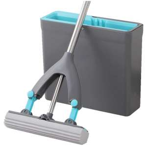 ZQ&QY with Adjustable Mop Handle, Mop, and Bucket Set