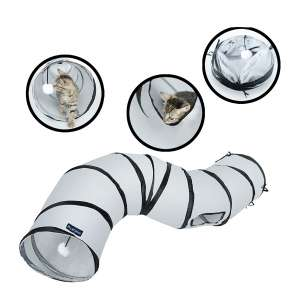 PetLike S Way Cat Tunnel Collapsible Pop-Up Pet Tube