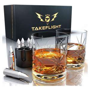 TAKEFLIGHT Store Premium Stainless Steel Whiskey Glasses