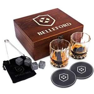 BELLEFORD Whisky Bourbon 8 Scotch Whisky Granite Glass