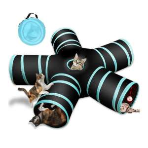 GUSTYLE Cat Tunnel Toy with 5 Ways