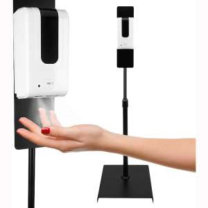 Brüun Automatic Hand Sanitizer Station – Touchless Disinfecting Alcohol Dispenser & Stand for Automatic Sanitizing & Cleaning