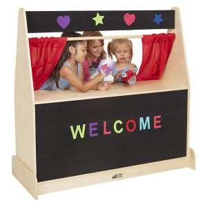 ECR4Kids Birch Puppet Theater for Kids