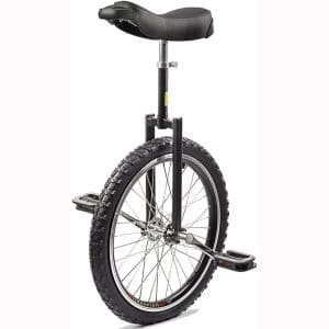 Topleads 24 inch 20inch 18 inch 16 inch Junior Unicycle High-Strength Manganese Steel Fork, Adjustable Seat, Aluminum Alloy Buckle