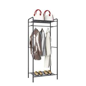 GHQME Metal Garment Racks for Bedroom Entryway, Black