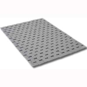 Grey Bamboo Bath Mat:Gray Bathroom Rug- Size 24 x 17 Inches - Foldable, Non-Slip, Long-Lasting Wood Mats for Shower, Toilet, Kitchen Floors and Doors - by ZPirates Brand