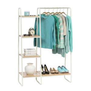 IRIS USA Garment Racks w/ Wood Shelves