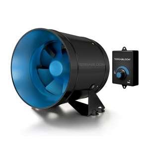 TerraBloom ECMF-150 Inline Duct Fan - Variable Speed