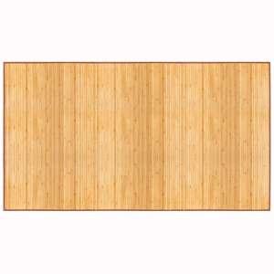 """Bamboo Floor Mat 24"""" x 72"""",Natural Bamboo,Light Wood"""