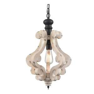 CLAXY Traditional Wooden Chandelier