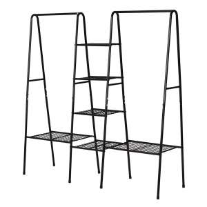 BOFENG Metal Clothing Garment Racks (Black)