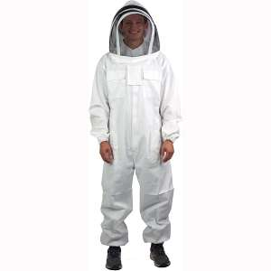 VIVO Professional XL:XXL Cotton Full Body Beekeeping Suit with Veil Hood (BEE-V106XL)