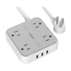 TESSAN Power Strip with USB 5FT Power Cord