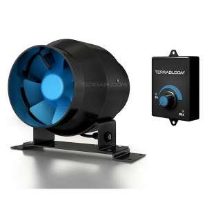 TerraBloom ECMF-100 Inline Duct Fan, Energy Saving