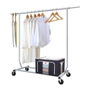 Camabel Heavy-Duty Clothing Garment Racks With Wheels