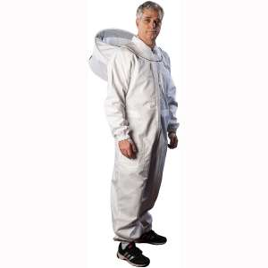 Forest Beekeeping Supply - Premium Cotton Beekeeping Suit With Round Hood | Suitable For Beginner and Commercial Beekeepers | Metal Brass Zippers | Thumb Straps | Hive Tool Pockets - (XX Large)
