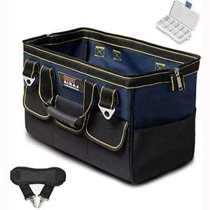 AIRAJ 18 in Waterproof Tool Bag with Handle & Shoulder Strap, Large Capacity Toolkits,Portable Multi-Functional Tool Organizer