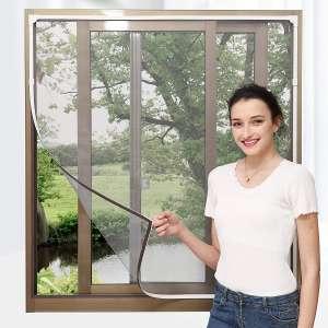 NeatiEase Adjustable DIY Magnetic Window Screen 72 x 48 Inches