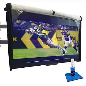 Outdoor TV Cover 60-65 inch - with Front Flap, Weatherproof, Waterproof Protection, Soft Interior
