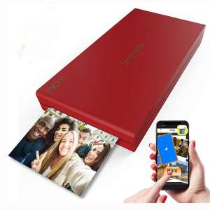 SereneLife Portable Instant Mobile Photo Printer - Wireless Color Picture Printing from Apple iPhone, iPad, Android Smartphone Camera