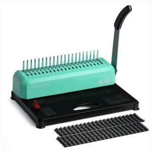 OFFNOVA 21-Hole 450 Sheets Paper Comb Punch Binder, Binding Machine for Letter Size : A4 : A5, Easy to Punch Handle