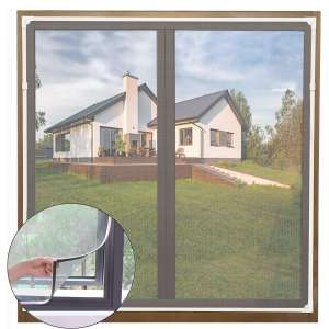Senneny Adjustable Magnetic Window Screen 55 x 43 Inches