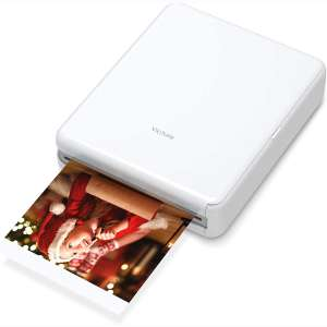 "Victure 3x3"" Portable Photo Printer, Bluetooth Connection, Rechargeable, Including 10 Pieces of Photo Paper"