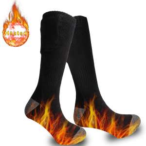 Achirarko 2021 Upgraded Heated Socks for Women&Men,Rechargeable and Washable Electric Heated Socks