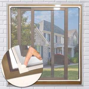 NeatiEase Adjustable DIY Magnetic Window Screen 55 x 36 Inches
