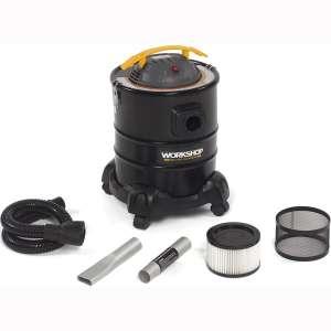 WORKSHOP Wet:Dry Vacs Ash Vacuum Cleaner WS0500ASH, 5-Gallon Ash Vac For Fireplaces, Stoves, BBQ Pits; 3.0 Peak Horsepower Ash Vacuum, Black:Yellow