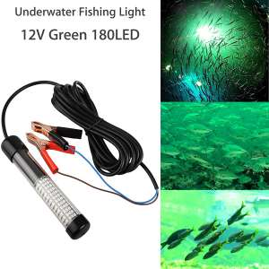 12V 10-14W LED Submersible Fishing Light Underwater Crappie Light Finder Lure Bait Lamp, IP68 Outdoor Night Fishing Light